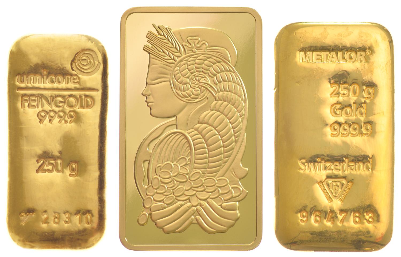 250g Gold Bars Best Value Bullionbypost From 8 677