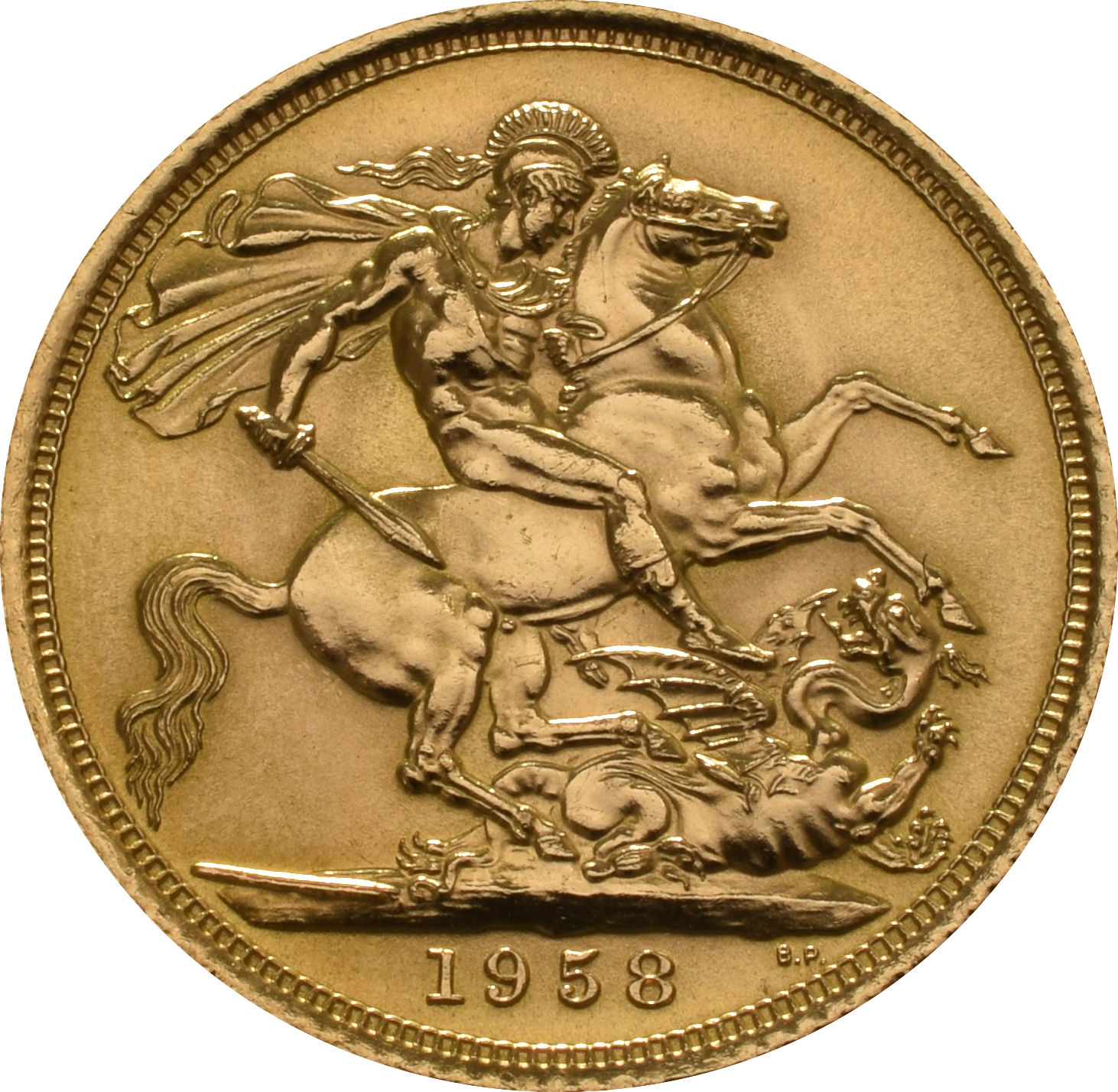 1958 Gold Sovereign Elizabeth Ii Young Head 310