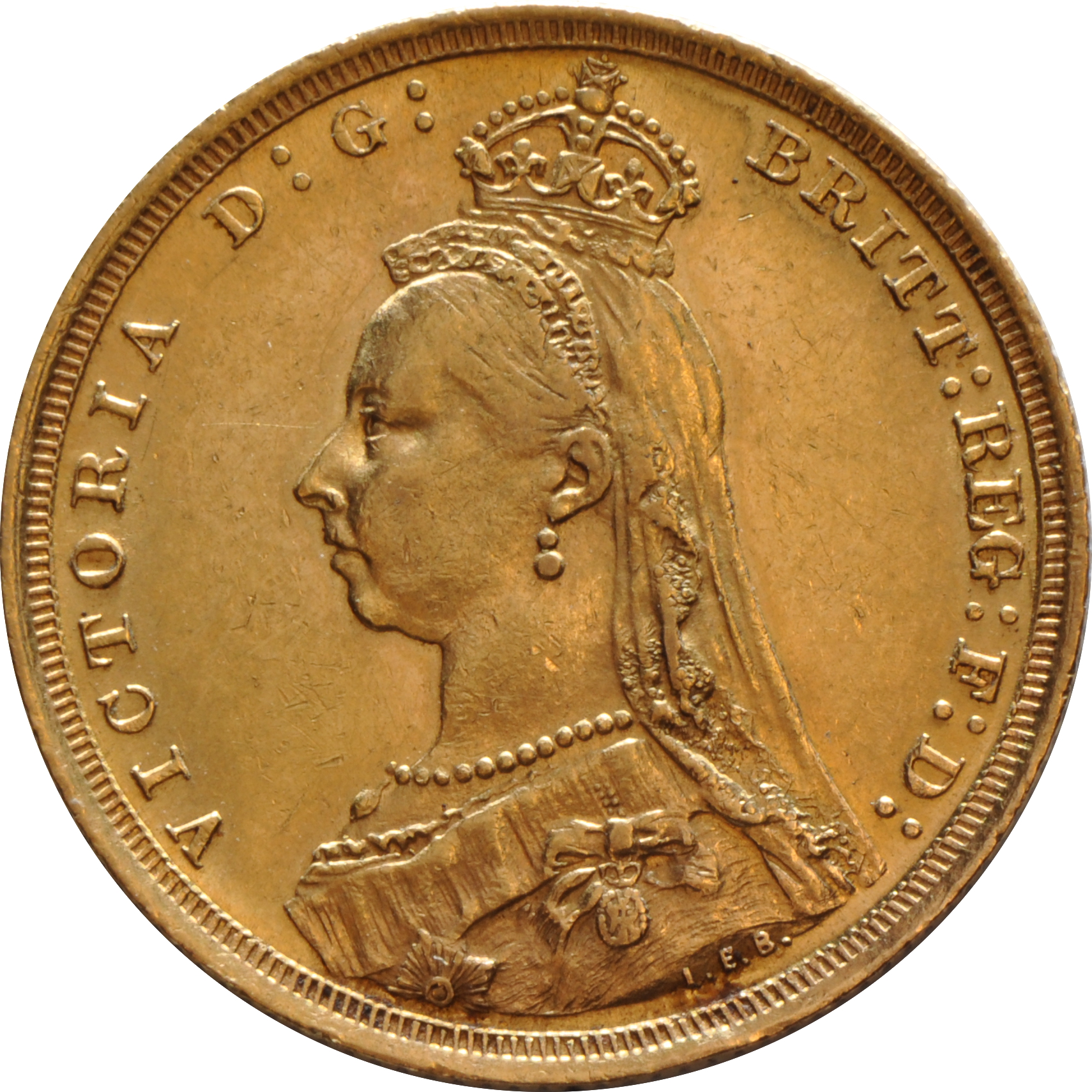 1889 Gold Sovereign Victoria Jubilee Head S 373 20