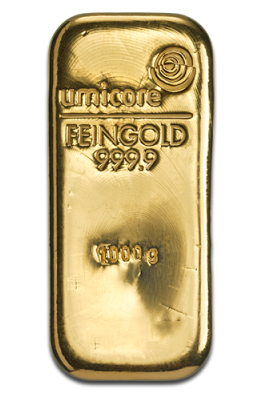 1kg Gold Bars By Umicore