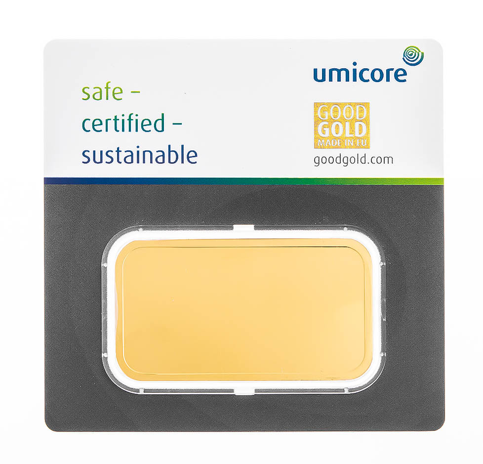 Umicore 100g Gold Bars Bullionbypost From 3 577