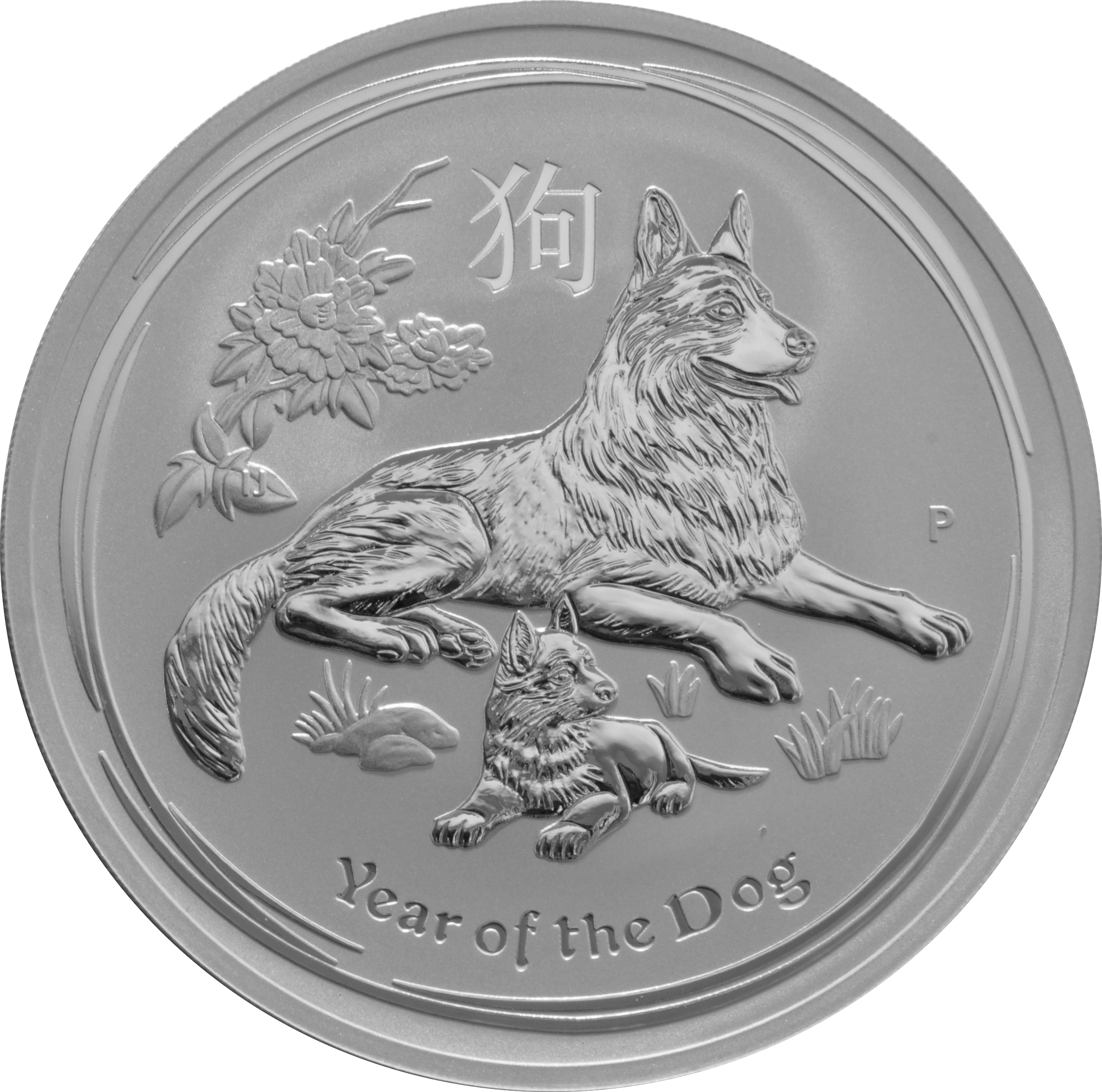 2018 10oz Australian Lunar Year Of The Dog Silver Coin